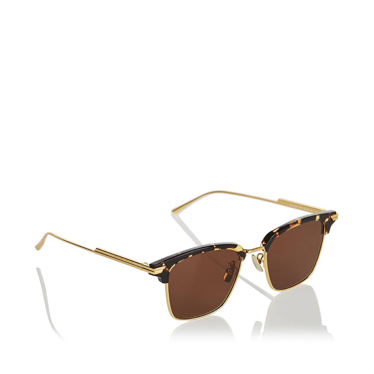 Clubmaster metal and acetate sunglasses