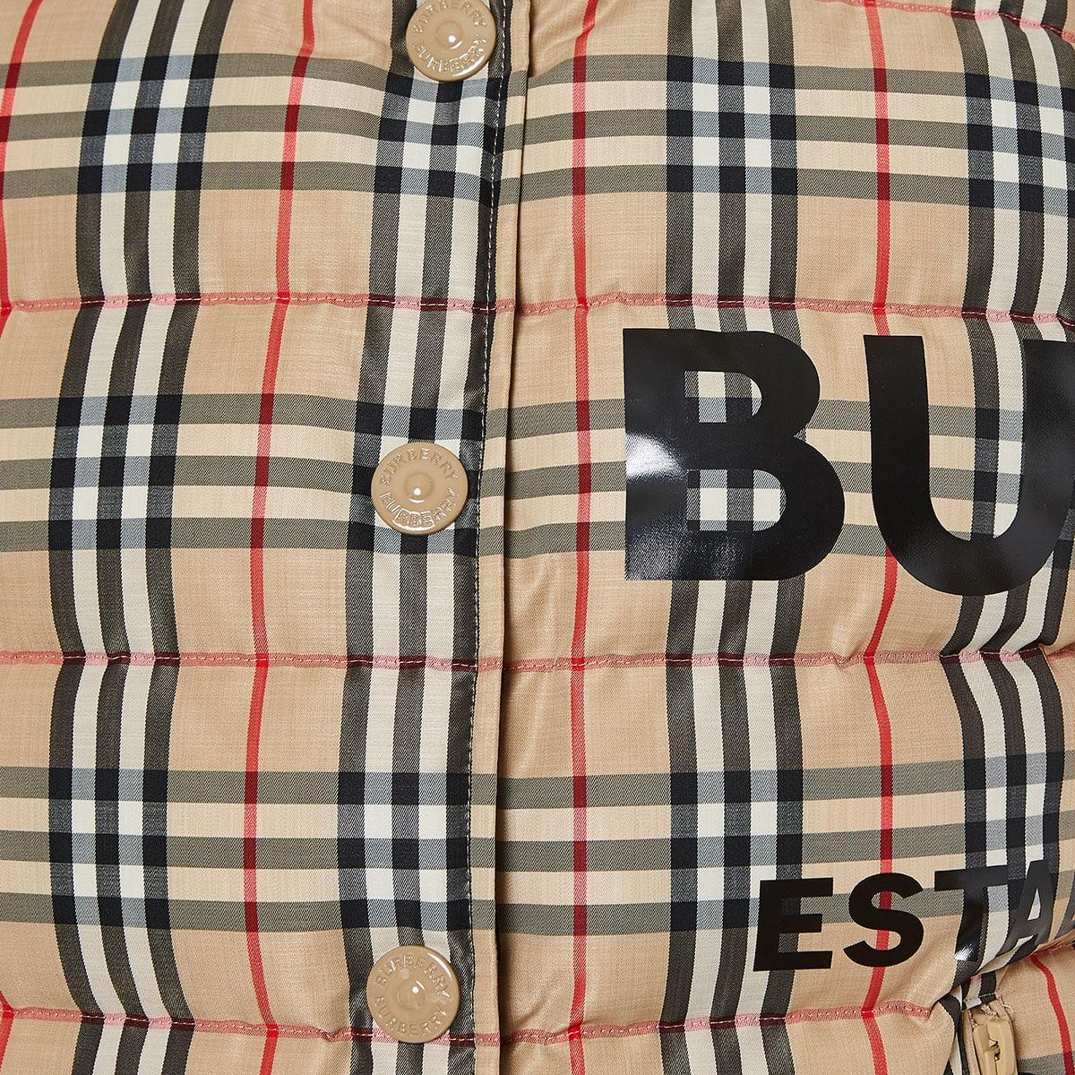 Vintage Check logo puffer gilet