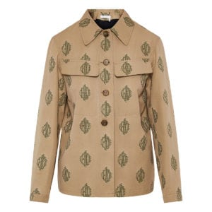 Jacquard-cotton logo jacket