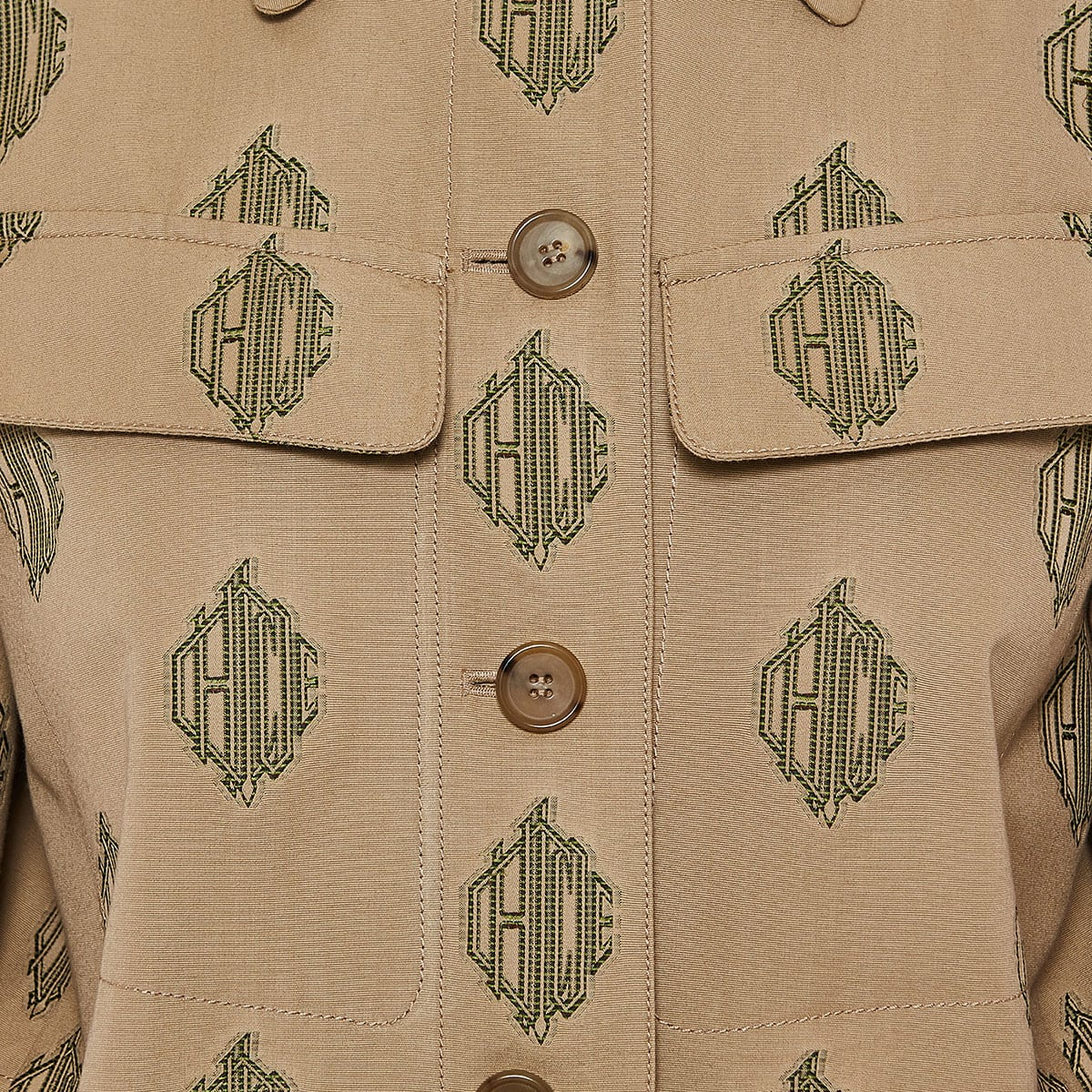 Jacquard-cotton logo jacket