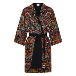 Urma embroidered mini robe dress