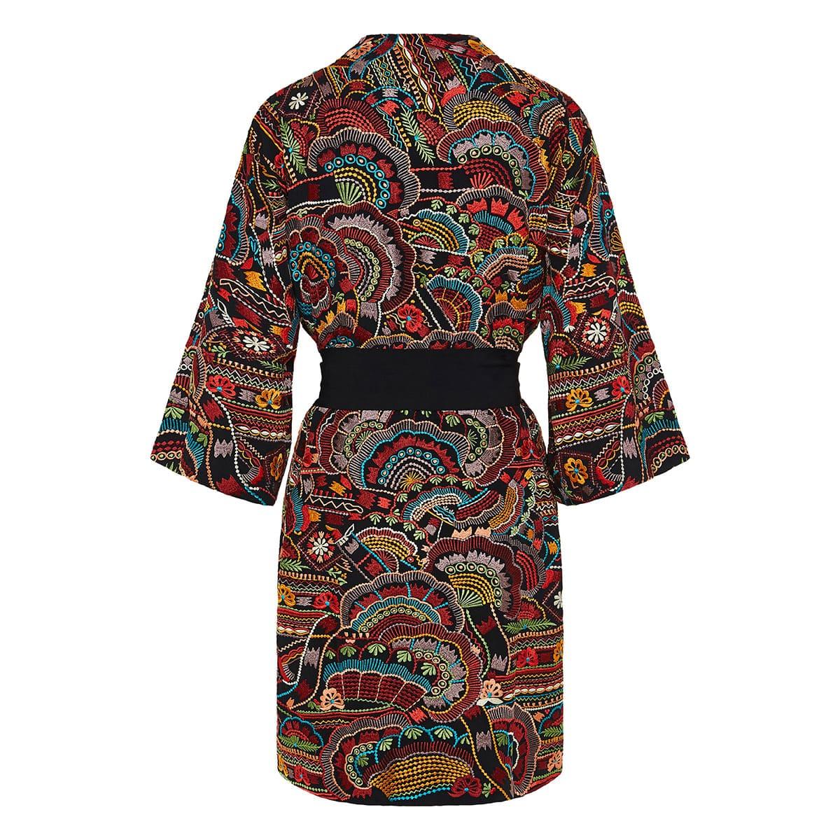 Urma embroidered mini robe dress