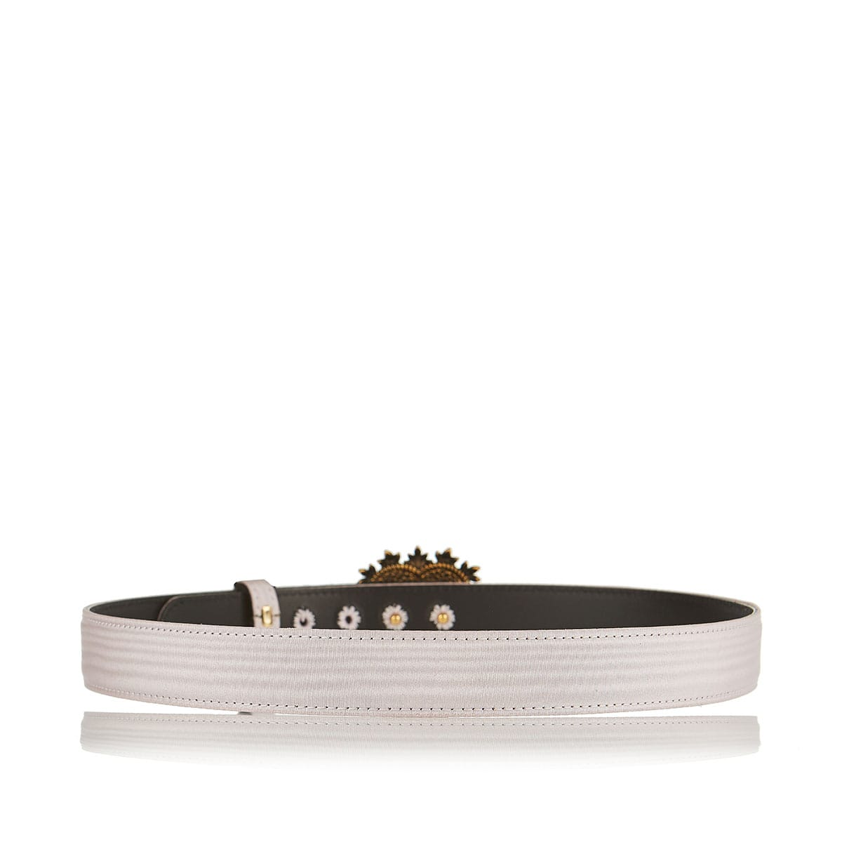 Devotion jeweled-buckle silk belt