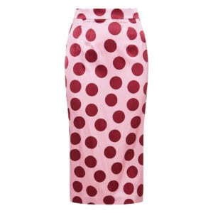 Polka-dot pencil skirt