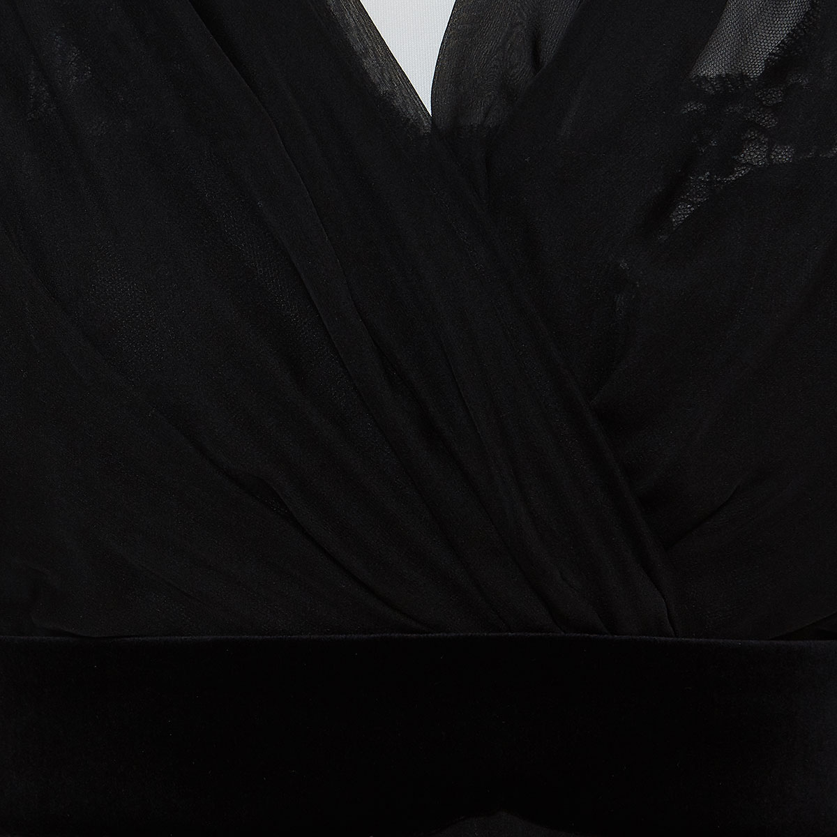 Draped chiffon pleated mini dress