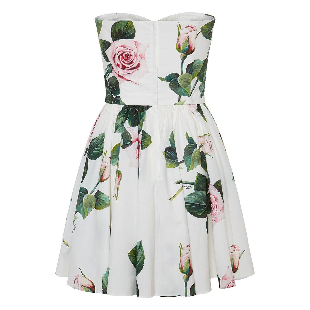 Floral poplin mini dress