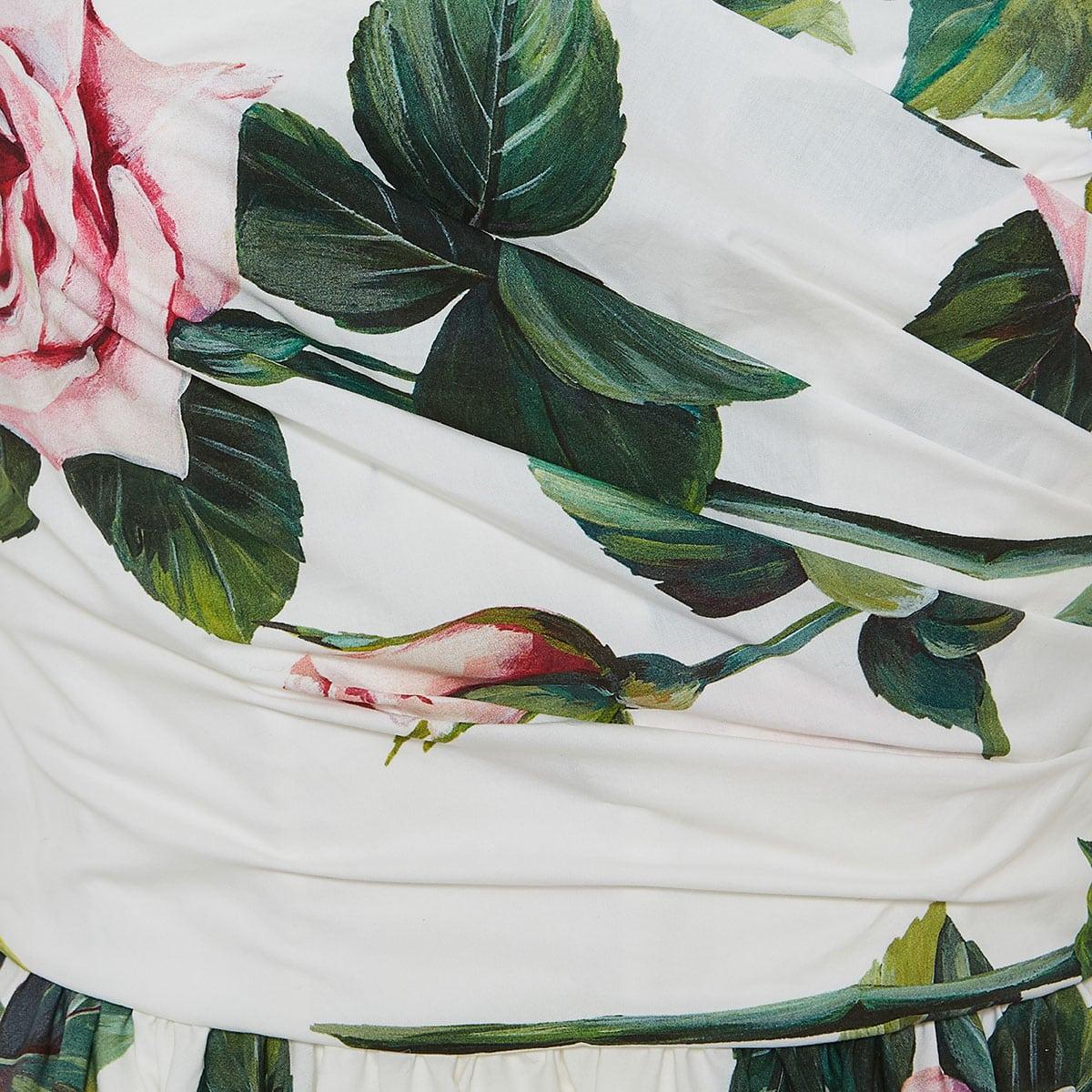 Floral poplin midi dress