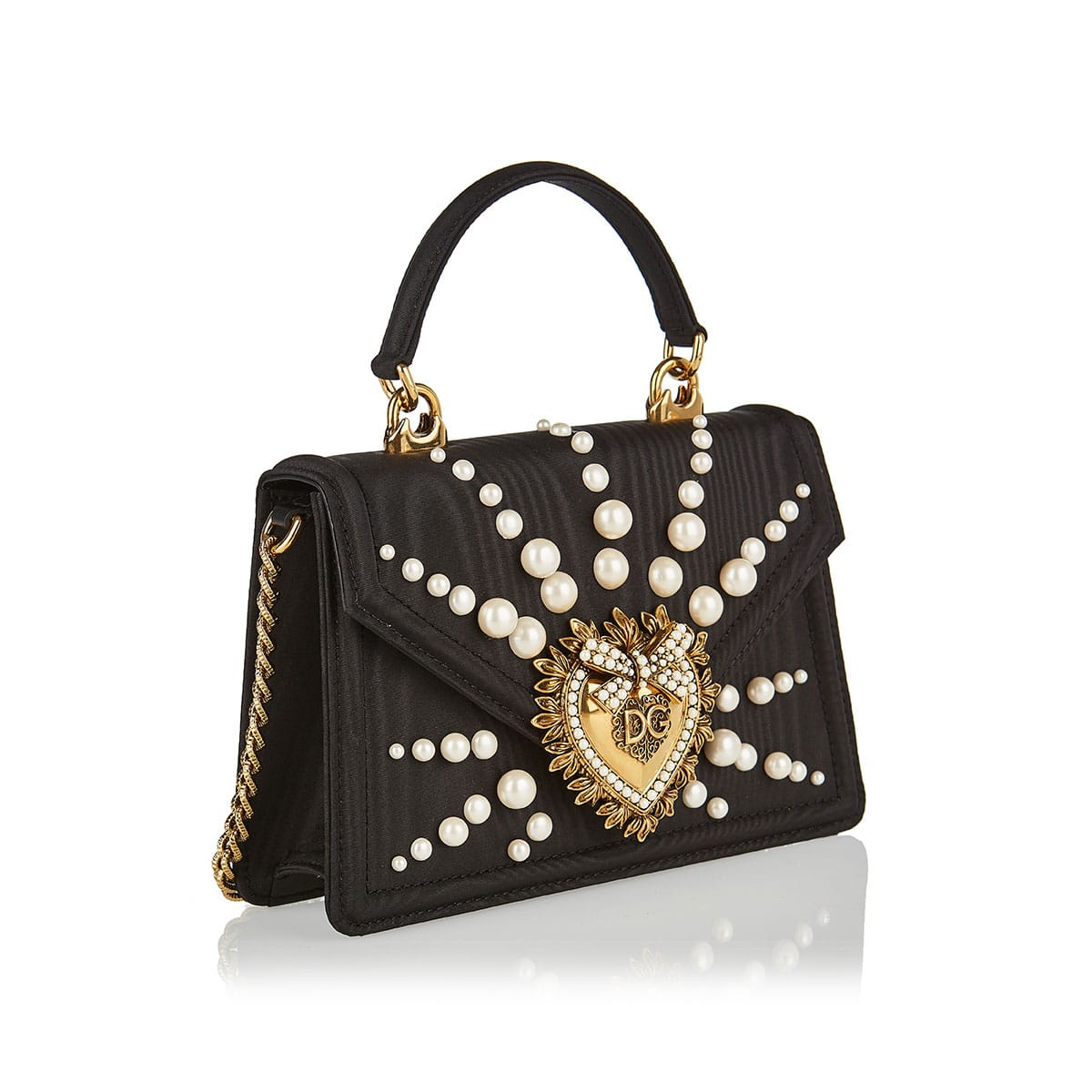 Small Devotion pearl-embellished silk bag