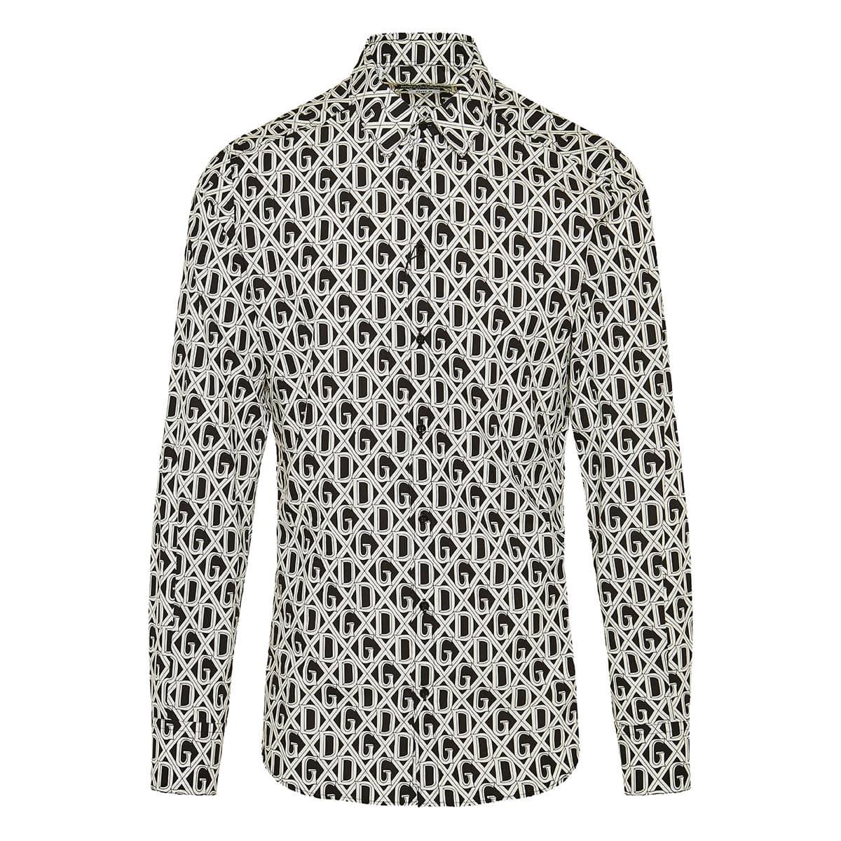 DG printed poplin shirt