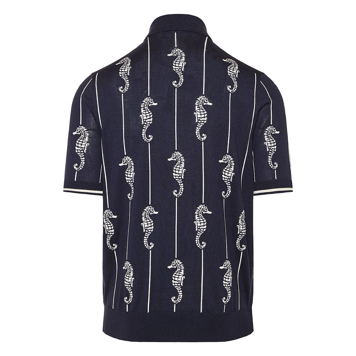 Seahorse knitted polo shirt