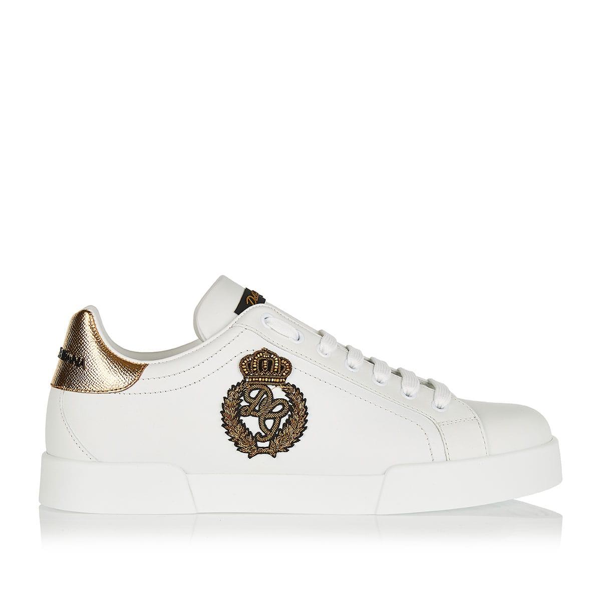Portofino crown embellished sneakers