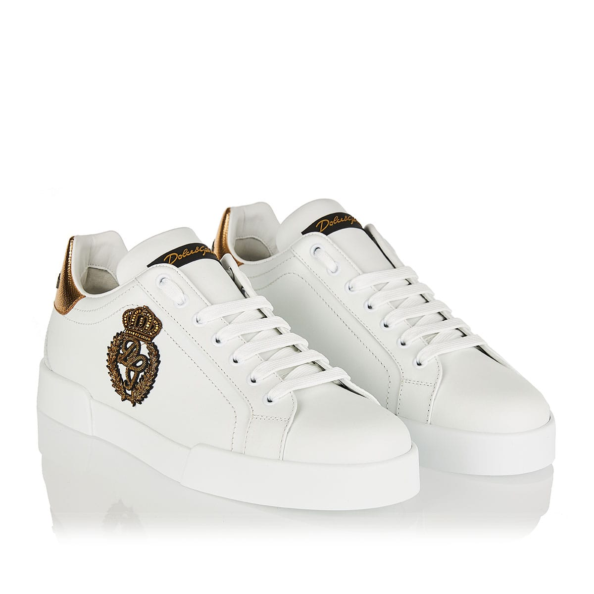 Portofino crown embellished sneakers