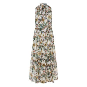Lou Lou floral maxi chiffon dress