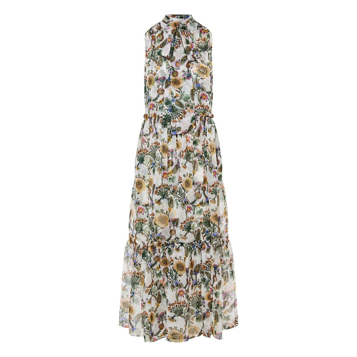 Lou Lou floral maxi chiffon dress
