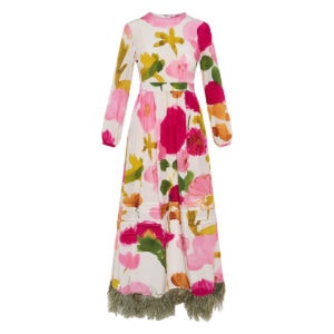 Pemberley long printed dress