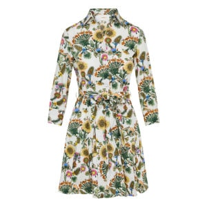 Bellini floral mini shirt dress