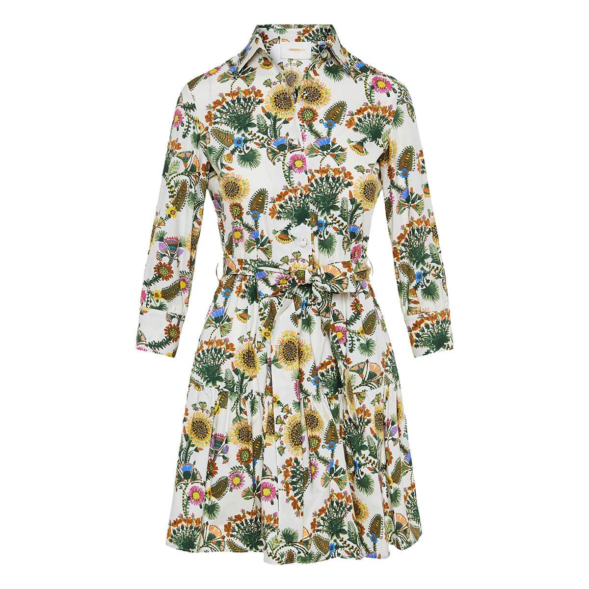 Bellini floral mini shirt dress