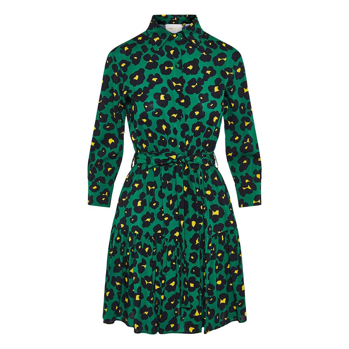 Bellini printed mini shirt dress