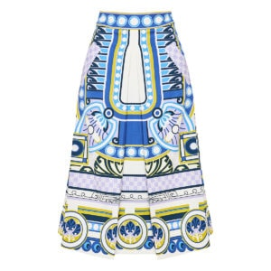 Santa Monica printed midi skirt