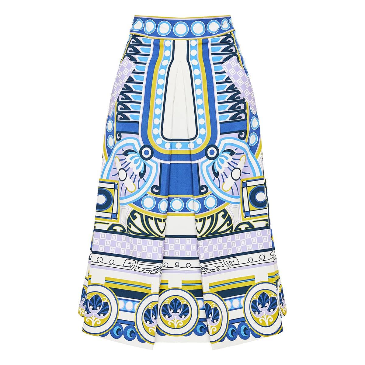 Santa Monica printed midi skirt