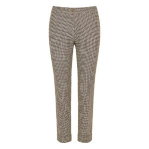 Printed jacquard cropped trousers
