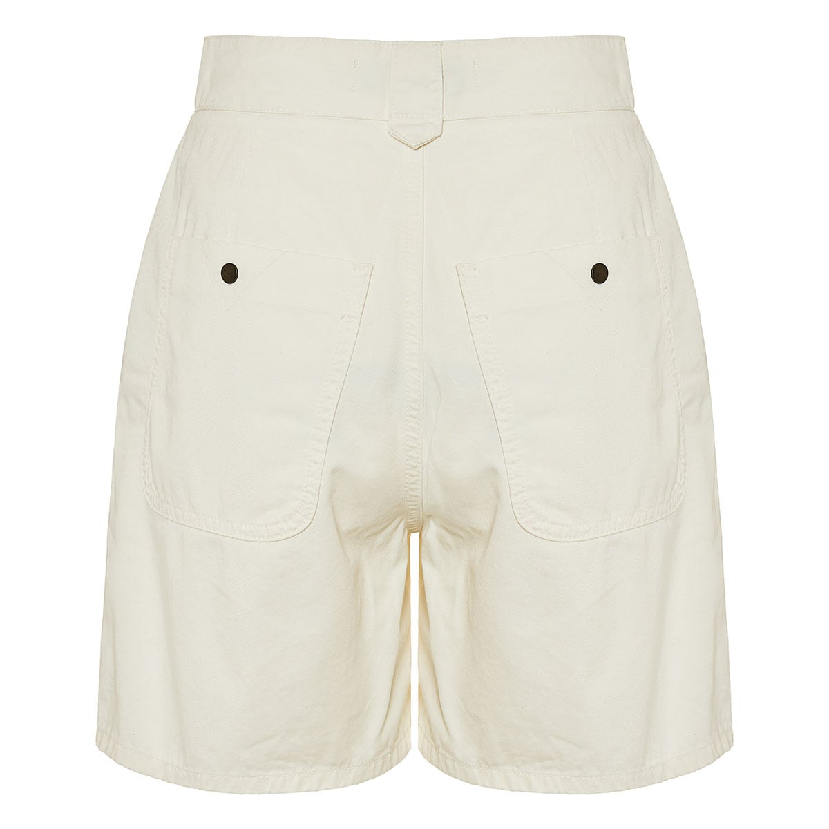 High-waist shorts with embroidered detail