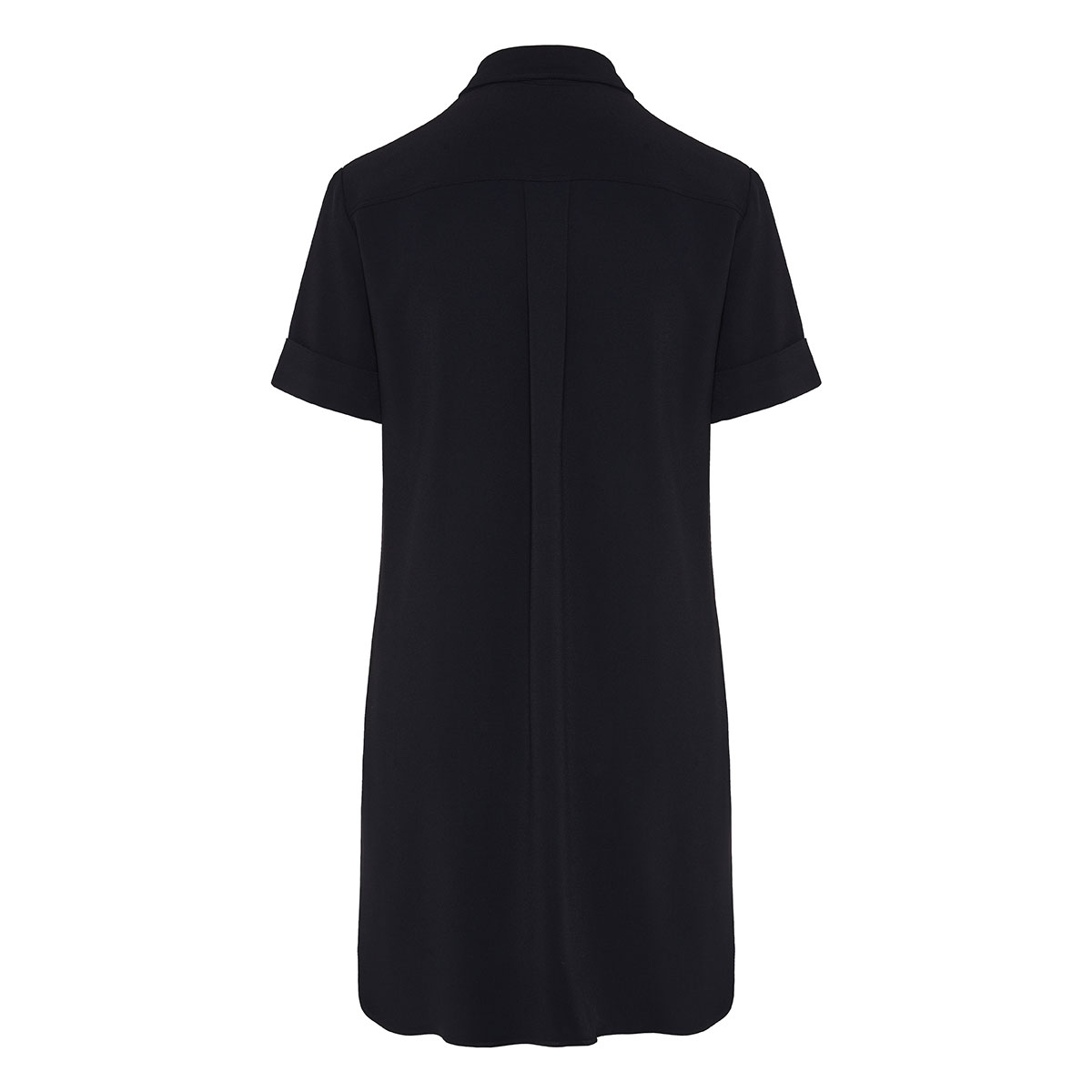 Shirt dress with jeweled buttons