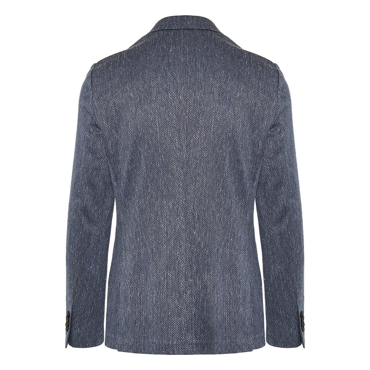 Single-breasted jacquard printed blazer