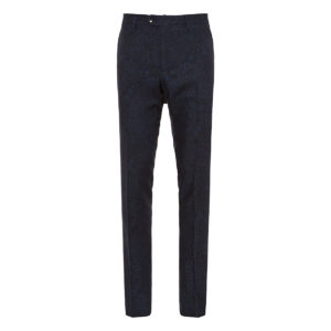 Paisley wool tailored trousers