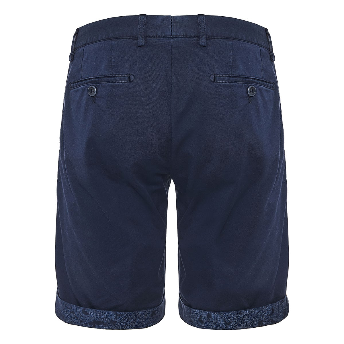 Bermuda shorts with paisley hems