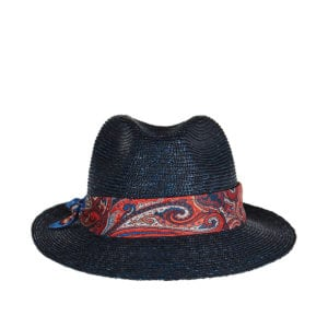 Paisley-band woven hat