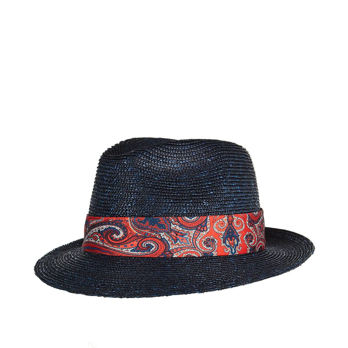 Paisley-band woven hat