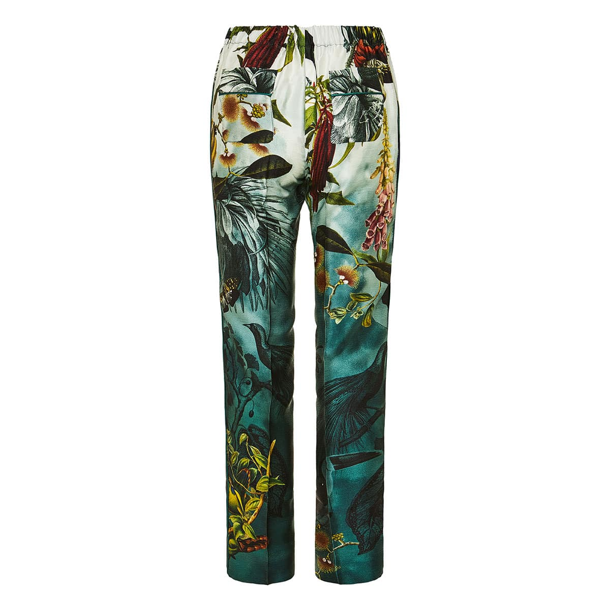 Etere printed straight-leg trousers