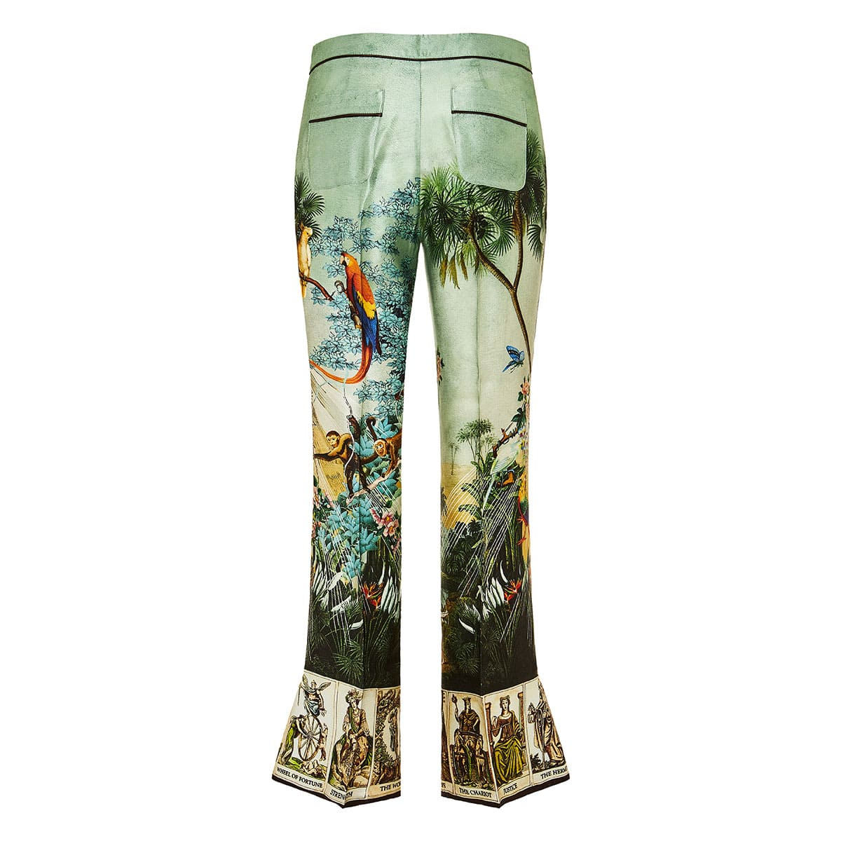 Dioscuri printed flared trousers