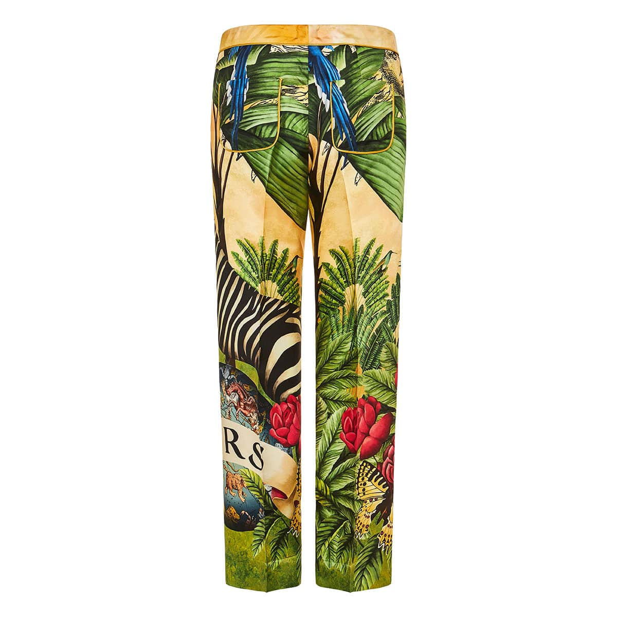 Ceo printed silk trousers