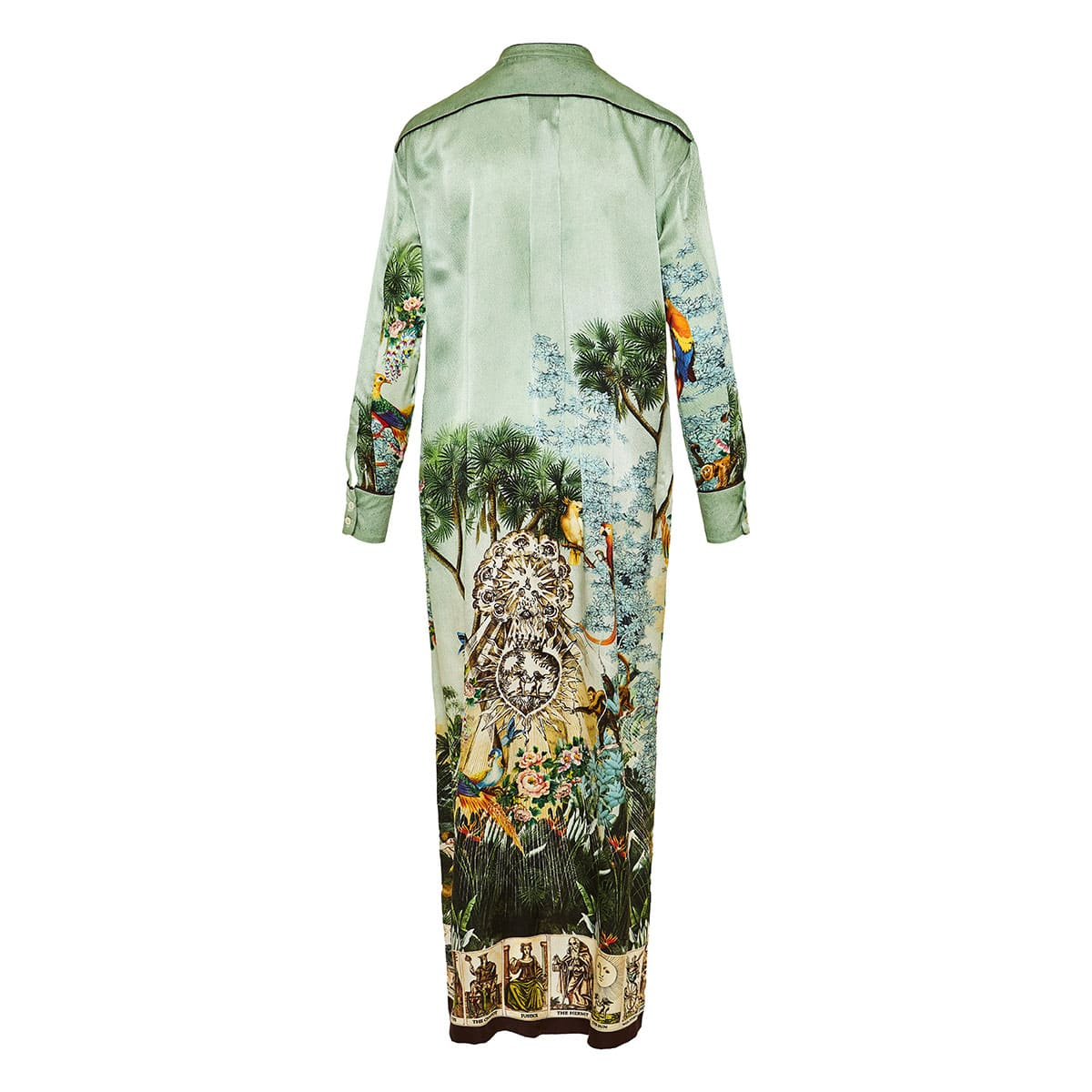 Galene long printed kaftan dress