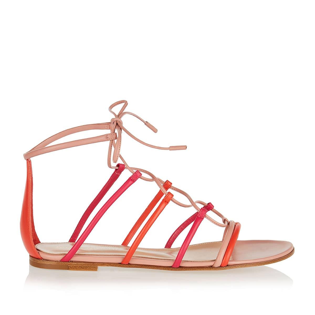 Gladiator flat leather sandals