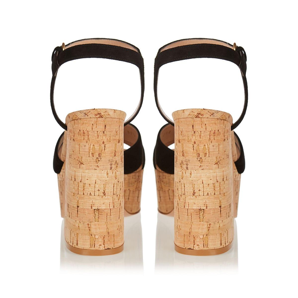 Bebe 70 suede platform sandals