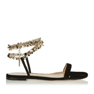 Tebe chain-embellished suede sandals
