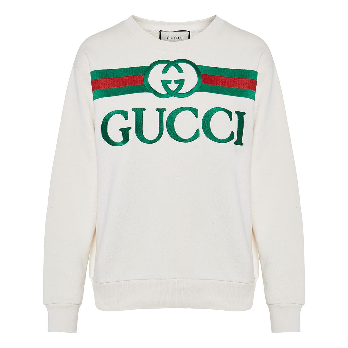 Logo-embroidered oversized sweatshirt