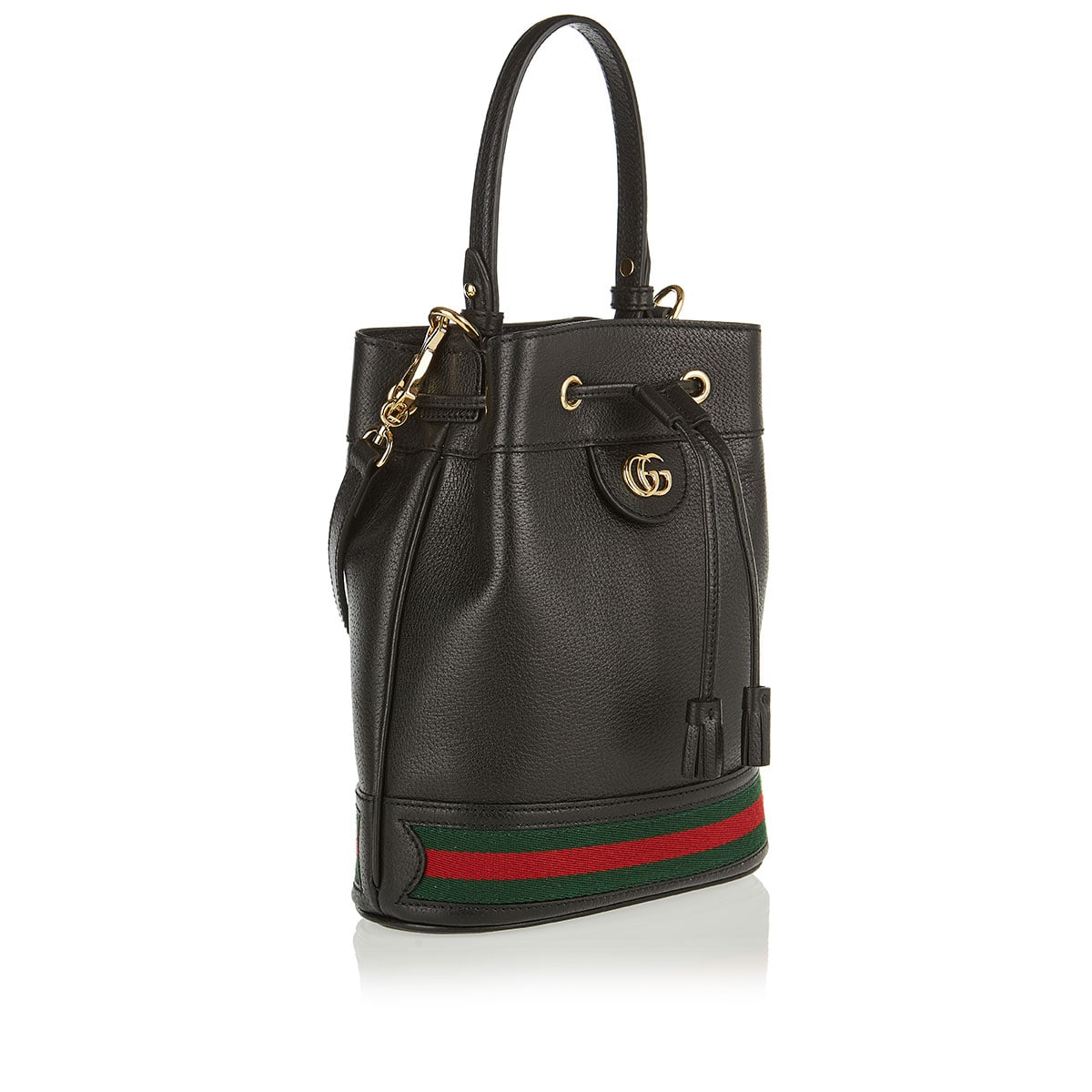 Ophidia small leather bucket bag