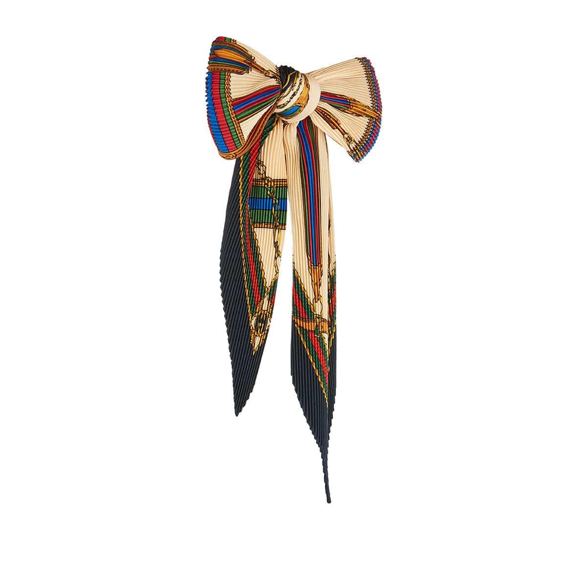 Printed silk bow tie