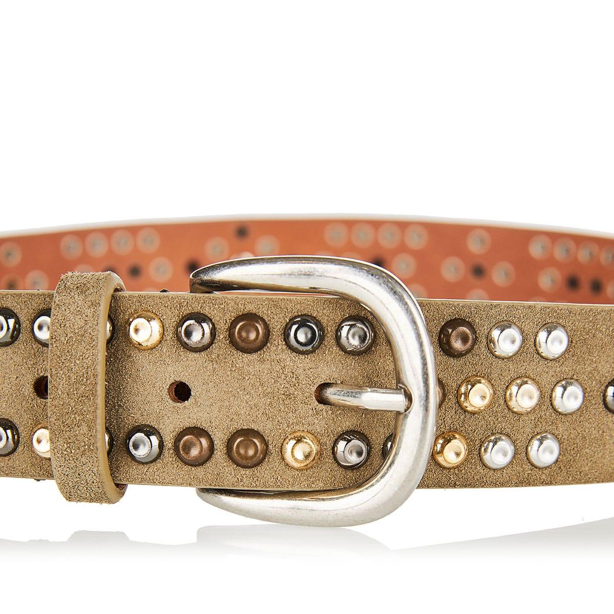 Devis studded suede belt