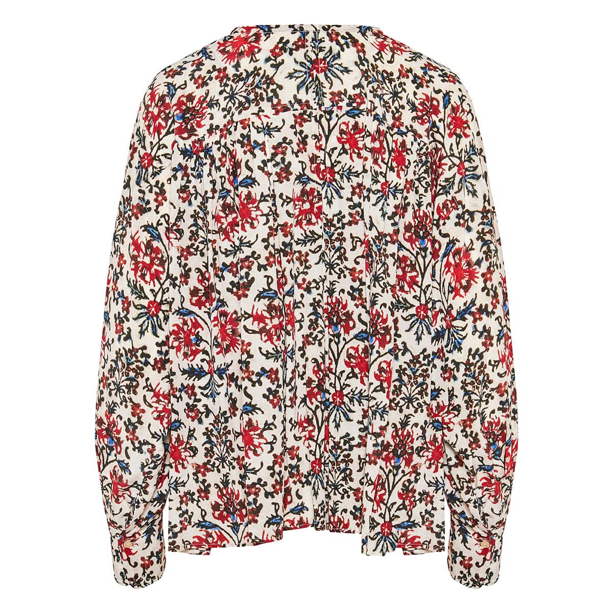 Gathered floral blouse