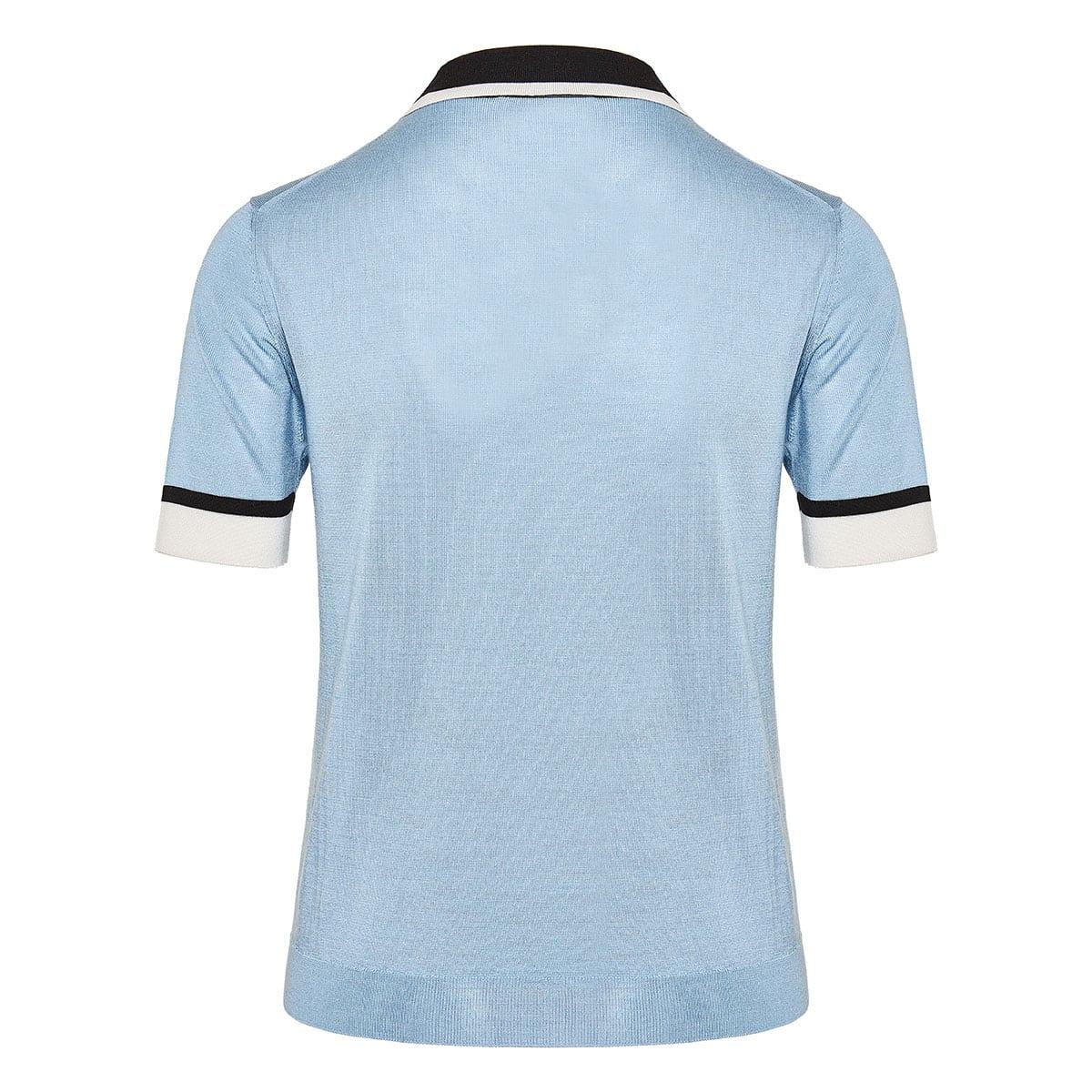 Silk polo shirt