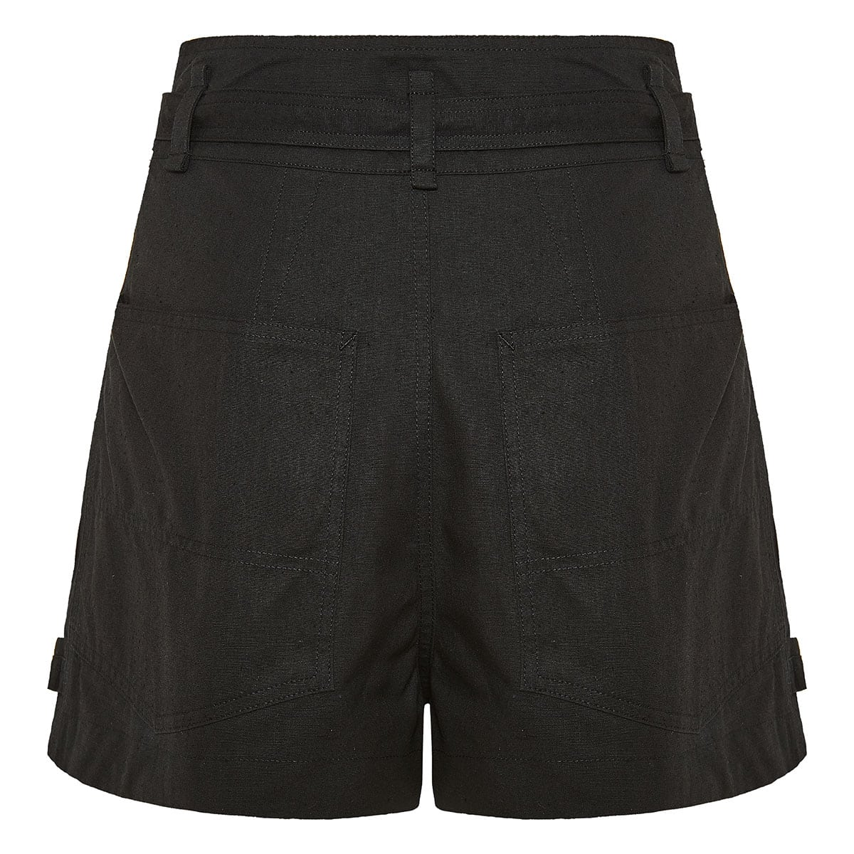 Wide-leg cotton shorts