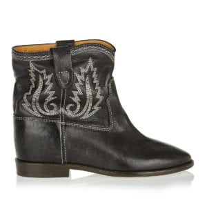 Crisi embroidered leather ankle boots