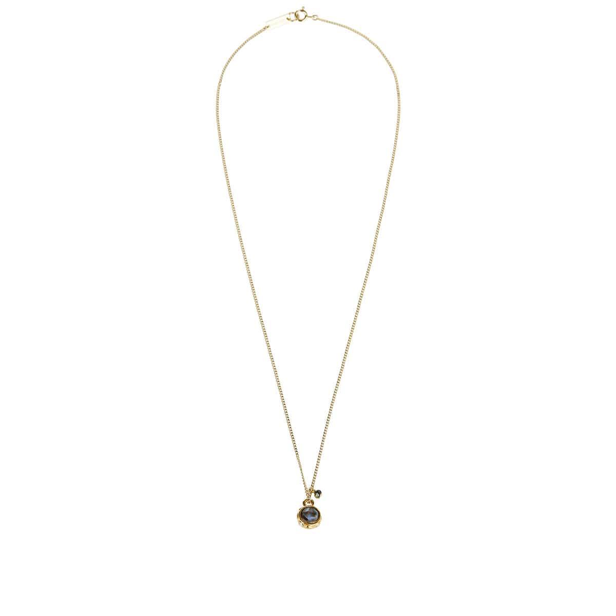 Embellished stone pendant necklace
