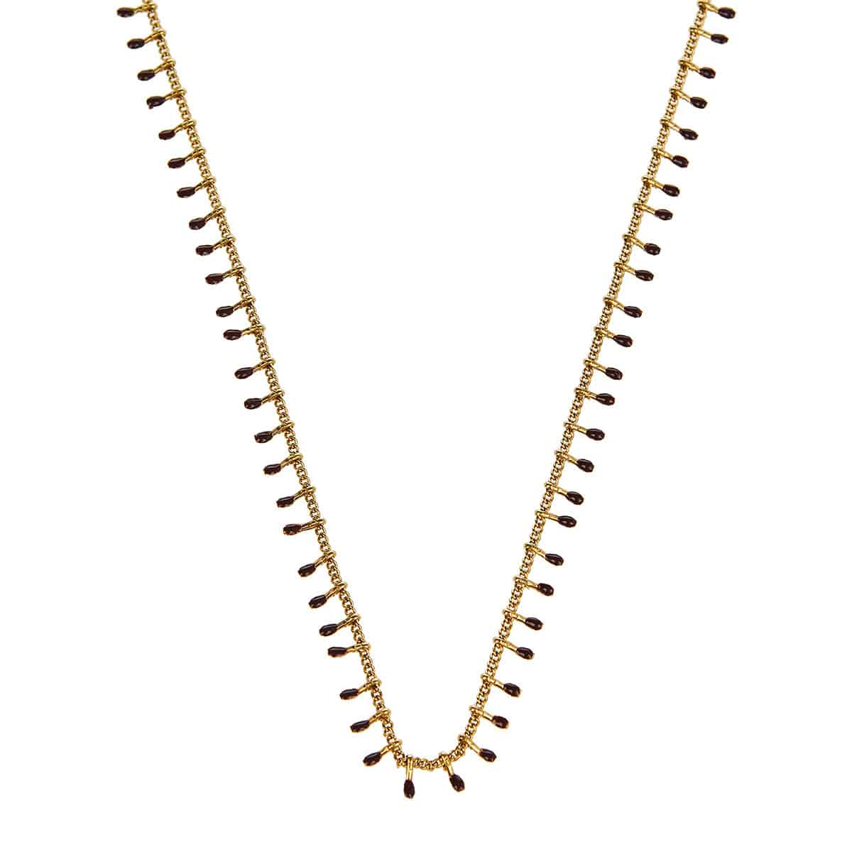 Casablanca enameled chain necklace