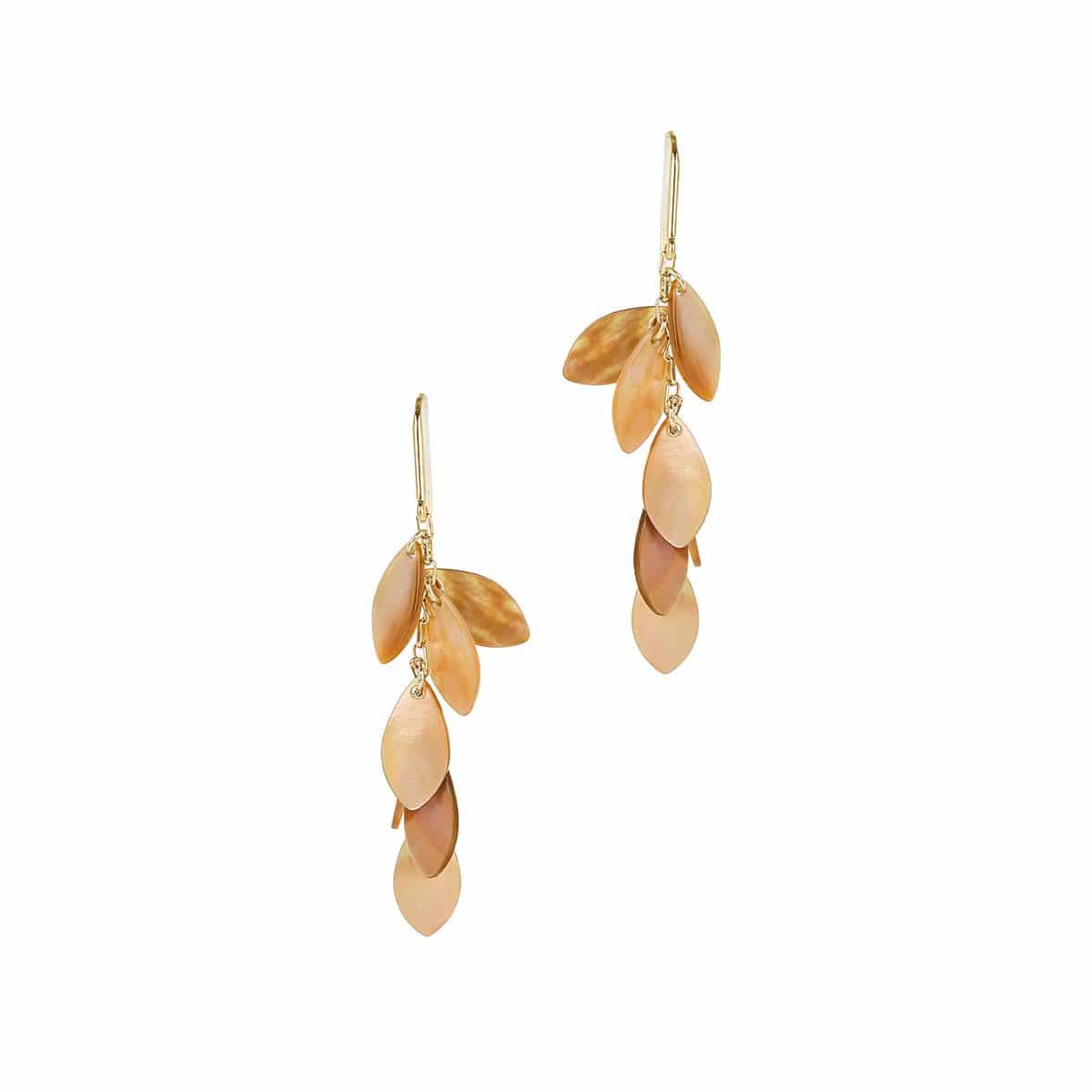 Long seashell earrings